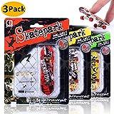 AumoToo Mini diapasón, Paquete de 3 Patineta de Dedos Profesional Parque de Patinaje Juegos de Juguete Regalo de Navidad para niños (3 Pack)