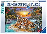 Ravensburger 16624 - Tigerfamilie im Sonnenuntergang - 2000 Teile Puzzle
