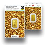 Goldbarren 2g Gramm | Fairtrade Gold 999.9 Feingold