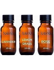NAWAB essential aroma Diffuser oil(Lavender,Lemongrass,Rose-15ml each)