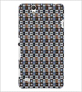 PrintDhaba Pattern D-5339 Back Case Cover for SONY XPERIA C4 (Multi-Coloured)