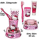 """4 tlg. Zahnputzset _ """" Hello Kitty """" - Zahnbürste"""