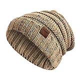 Strickmütze, Moliker Unisex Winter Warm Slouchy Wolle Hut Schädelmütze zum Frau & Männer (G9001)