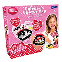Minnie Mouse Disney Colour in Glitter Bag