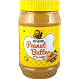 Dr Vegan Peanut Butter, 1KG - Made from Real Roasted Peanuts, Keto, Rich in Protein (Creamy)
