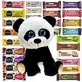 Vegane Snackriegel Probierpaket Panda - Jetzt Neuer Inhalt - 12 Riegel Superfood Mix Fruits & Nuts von Primal Pantry RawmyGod GiddyBar und Bombus Energy