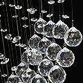 Kristall Deckenleuchte, Acelectronic Moderne Herz Shape Romantisch Regen Tropfen Cascading Kristall Hängeleuchte Kronleuchter Pendelleuchte Deckenleuchte Lampe mit Glaskristallen /GU10 X 3/50 Watt /L70cm(27.55inch) /LED/chrom
