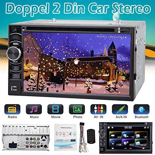 Doppel 2din Autoradio Mit Bluetooth DVD Cd USB Ohne Navigation Navi Gps 2din Neu