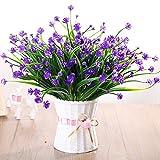 LIXIAOXIN Falsche Blume Simulation Set Wohnzimmer Möblierung Dekoration Schmuck Kunststoff Topfpflanzen Lila Jasmin