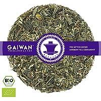 """N° 1343: Thé vert bio """"Green Energy (énergie verte)"""" - feuilles de thé issu de l'agriculture biologique - 100 g - GAIWAN GERMANY - thé vert d'Afrique, maté, citron, citronnelle, menthe poivrée, guarana"""