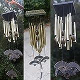 12 Tubos de Bronce Campanas de Viento Campanilla Colgante Regalo Decoración Metal Jardín Patio