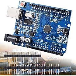 XCSOURCE® Tablero UNO R3 Rev3 Desarrollo ATmega328P CH340G AVR Compatible Arduino + Cable para Arduino HUM TE113