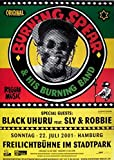 BURNING SPEAR - 2001 - Konzertplakat - Black Uhuru - Sly & Robbie - Hamburg