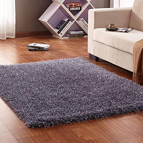 derne Einfache Shaggy Design Area Teppich für Wohnzimmer Sofa Schlafzimmer zum Entspannen Lesen Multi Farben beige Teppich in verschiedenen Größen Teppich (Gelb, 120x170cm) ()