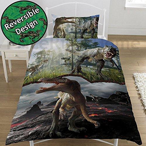 Jurassic World/Park/Raubtieren/Dinosaurier wendbar Jurassic Park World Bettwäsche-Set Dinosaurier -