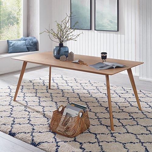 FineBuy Esszimmertisch 180 x 76 x 90 cm aus MDF Holz   Esstisch mit quadratischer Tischplatte   Robuster Küchentisch im...