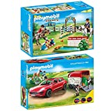 PLAYMOBIL Country 2er Set 9376 6930 Porsche Macan GTS + Reitturnier