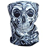 Cido Premium Sturmmaske Totenkopf Skull Maske Multifonction Sturmmaske Ghost für Motorrad Fahrrad Ski Paintball Gamer Karneval Kostüm (2#)