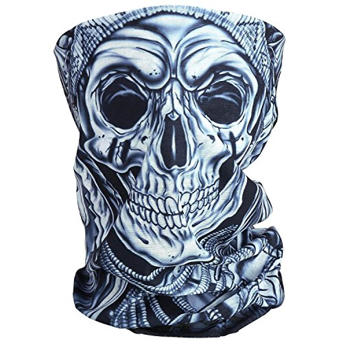 Cido Premium Sturmmaske Totenkopf Skull Maske Multifonction Sturmmaske Ghost für Motorrad Fahrrad Ski Paintball Gamer Karneval Kostüm (2#) (Kalt-wetter-helm Zubehör)
