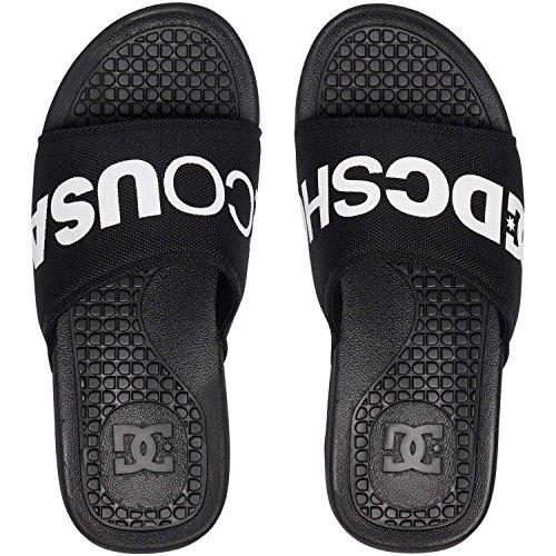 DC Shoes Bolsa SP, Tongs Homme, Noir