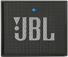 Idea Regalo - JBL GO Diffusore Bluetooth Portatile, Ricaricabile, Ingresso Aux-In, Vivavoce, Compatibilità Smartphone/Tablet e Dispositivi MP3, Nero Antracite