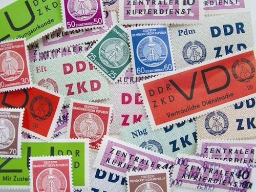 Goldhahn DDR Dienstmarken postfrisch mit Nr. 34-41yA + 34-37yB - Briefmarken für Sammler
