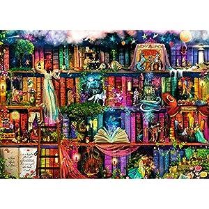 Suitray DIY 5D Diamant Painting, Märchen Bibliothek Landschaft Muster Crystal Diamant Malerei Strass Stickerei Bilder Kunst Handwerk Home Wand Decor Gemälde Kreuzstich
