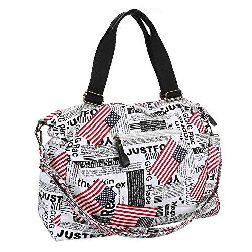 Ital-DesignShopper/Umwelttasche bei Ital-Design - Shopper ecologica Donna Nero (Nero/Bianco)