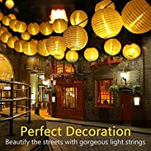Wunderbar LED Lichterkette Lampions Innen Und Außen, APICI 5 Meter 20 LEDs Laternen  Lichterkette Wasserfest Für