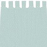 Sugarapple Dekoschal, Gardine, Vorhang (über 35 Farben wählbar) mit Schlaufen aus Baumwolle für Kinderzimmer und Babyzimmer. 2 Schals, Breite 143 cm, Länge 145 cm, Mint Sterne weiß