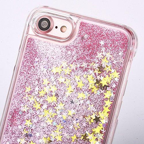 iPhone 7 Plus Bling Diamant Cœur Etui Housse Coque,iPhone 7 Plus Bling Coque,iPhone 7 Plus Transparente Coque,iPhone 7 Plus Plastique Etui Transparent Diamant Housse Coque Hard,iPhone 7 Plus Clear Coq B Star Liquid 1