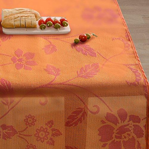 Casa pura tovaglia plastica monika | da tavolo | cerata | rettangolare | resistente alle intemperie | 130 x 160 cm | arancione