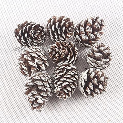 Yifom 4cm Pigna albero di Natale appeso ornamento, 90