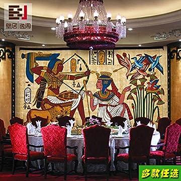 Aolomp Wallpaper Custom Retro Grandes Murales Personas Faraón De Egipto Wallpaper Ktv Bar Cafetería Pirámide Papel Tapiz Personalizado 6