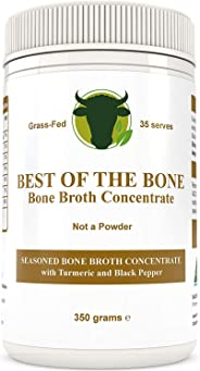 Premium Beef Bone Broth Concentrate Turmeric Flavor - 100% Sourced from AU Grass-Fed, Pasture-Raised Cattle - Healthier Skin