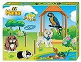 Hama 3147 - Geschenkpackung Meine Haustiere, ca. 4000 Bügelperlen, 2 Stiftplatten und 2 Motivstützen