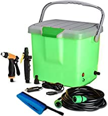 Inditradition High Pressure Portable Automatic Car Washer, Water Spray Gun   with All Accessories, 16 Liter Tank (Multi-Color)