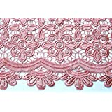 Retal de tela Guipur color Rosa Palo 9,6 m.