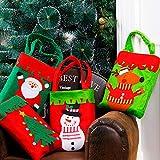 CHENLIANGPO Decorazioni Decorazione di Natale Ciondolo Goccia ornametns Christmas Dinner Table Decoration Candy Bag, Ispessito Tessuto Non Tessuto for Bambini Regali Borse, Colore Casuale di Consegna