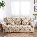 FORCHEER Sofabezug elastische Sofahusse Sesselbezug Stretchhusse Sofaüberwurf Couch Husse mit 4 verschienden Größe ( 1-Sitzer, 90-140cm, Farbe #5 )