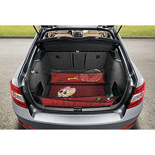 Preisvergleich Produktbild Skoda 5E0017700 Gepäcknetz Gepäckraumnetz Ladungssicherung Ladenetz 3-teilig rot