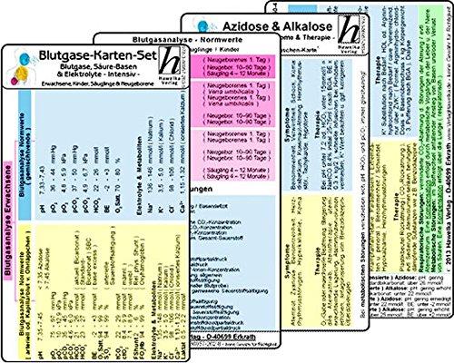 Intensiv-therapie (Blutgase-Karten-Set - Medizinische Taschen-Karte: Bestehend aus unseren Karten: Blutgase, Säure-Basen & Elektrolyte -Intensiv- für Erw., Kinder, ... & Alkalose - Ursachen, Symptome & Therapie -)