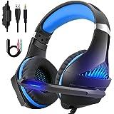 DeepDream Gaming Headset für PS4 PC Xbox One,Professional Headset mit Mikrofon Stereo Sound Noise Isolation und Lautstärkeregler