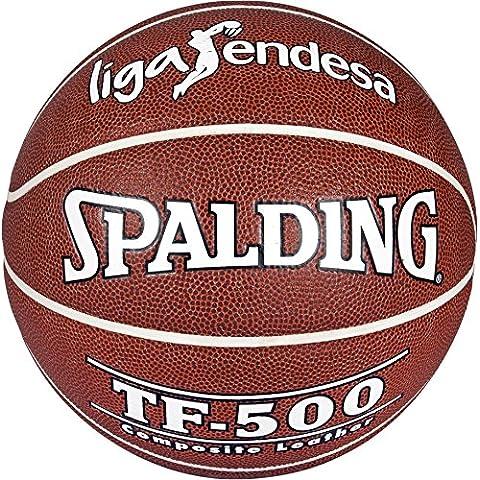 Spalding Acb Tf500 In/Out Sz.7 74-504Z - Balón de baloncesto, color ladrillo, talla 7