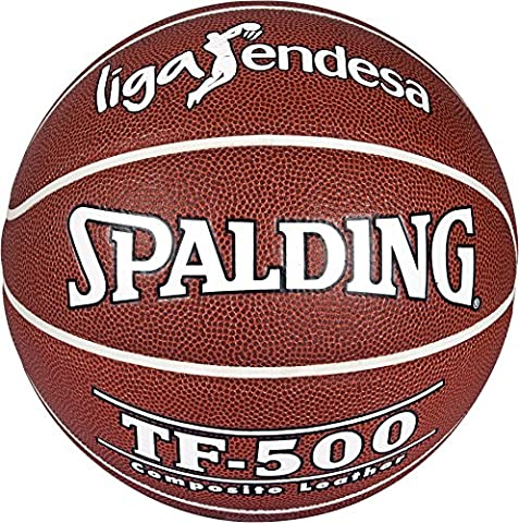 Spalding ACB TF500 in/out Sz. 7 74 – 504Z Ballon de basket-ball, brique, 7