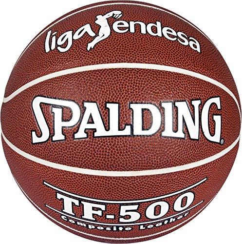 Spalding Acb Tf500 In/Out Sz.7 74-504Z Balón de baloncesto, Ladrillo, 7