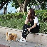 leoboone Automatische versenkbare Hundeleine 8M 50kg Gewicht Große Hundeleine Verlängerung Pet Leash Blei für große mittlere Hund mit LED, schwarz & Camouflage Green