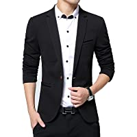 CHICTRY Men Casual Slim Fit One Button Down Classic Business Blazer Suit Jacket