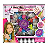 AiSi Mädchen DIY Handarbeits Set, Armbänder knüpfen, zum Basteln für Kinder, rund Webrahmen für Armbänder, Bastelset ab 6 jahre