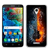 Easbuy Handy Hülle Soft Silikon Case Etui Tasche für Alcatel One Touch Pop 4 5,0 Zoll 5051D 5051J 5051M 5051X Smartphone Cover Handytasche Handyhülle Schutzhülle